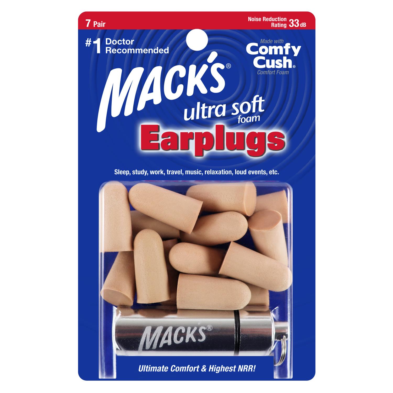 Macks Ultra Soft Foam Ear Plugs 7 Pair